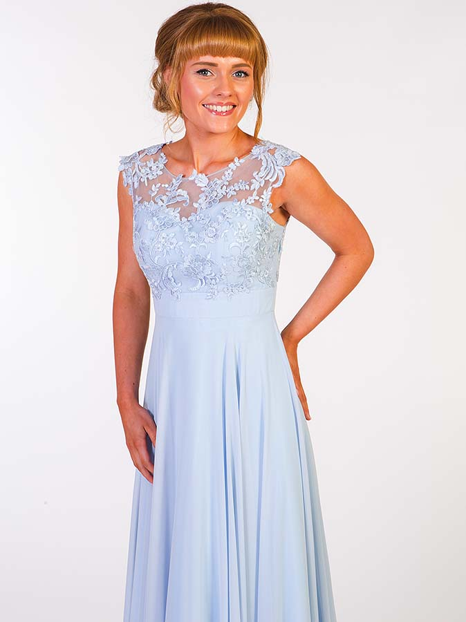 Prom Frocks PF9147 Powder Blue Prom Dress - Prom Frocks UK Prom Dresses