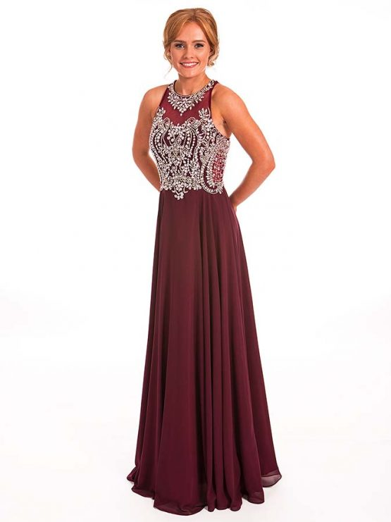 Prom Frocks Blackcurrant Prom Dress