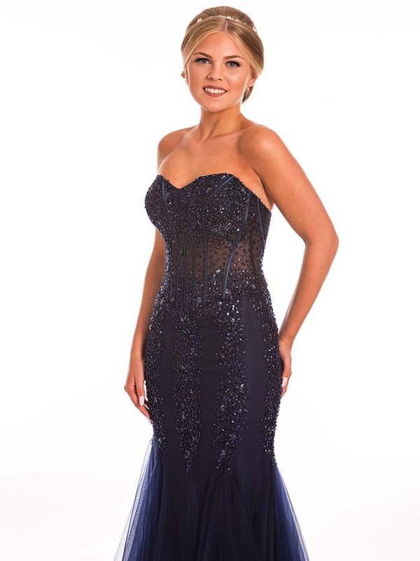 Prom Frocks Navy Prom Dress