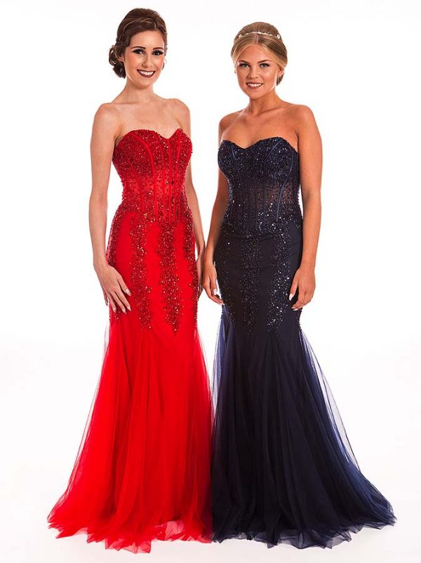 Prom Frocks Navy and Navy Prom Dress