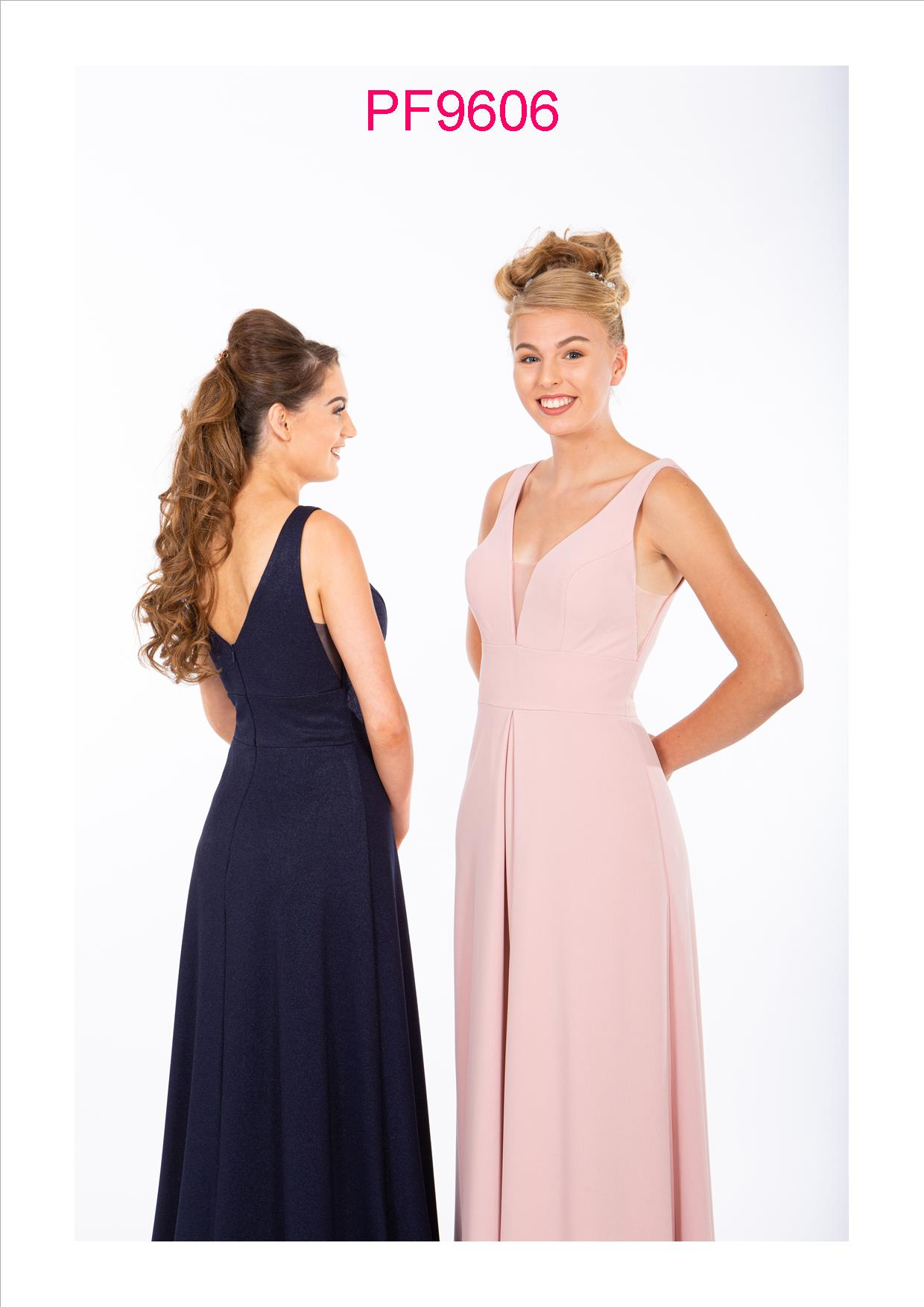 PF9634 Nude Pink Sparkle Prom/Evening Dress - Prom Frocks
