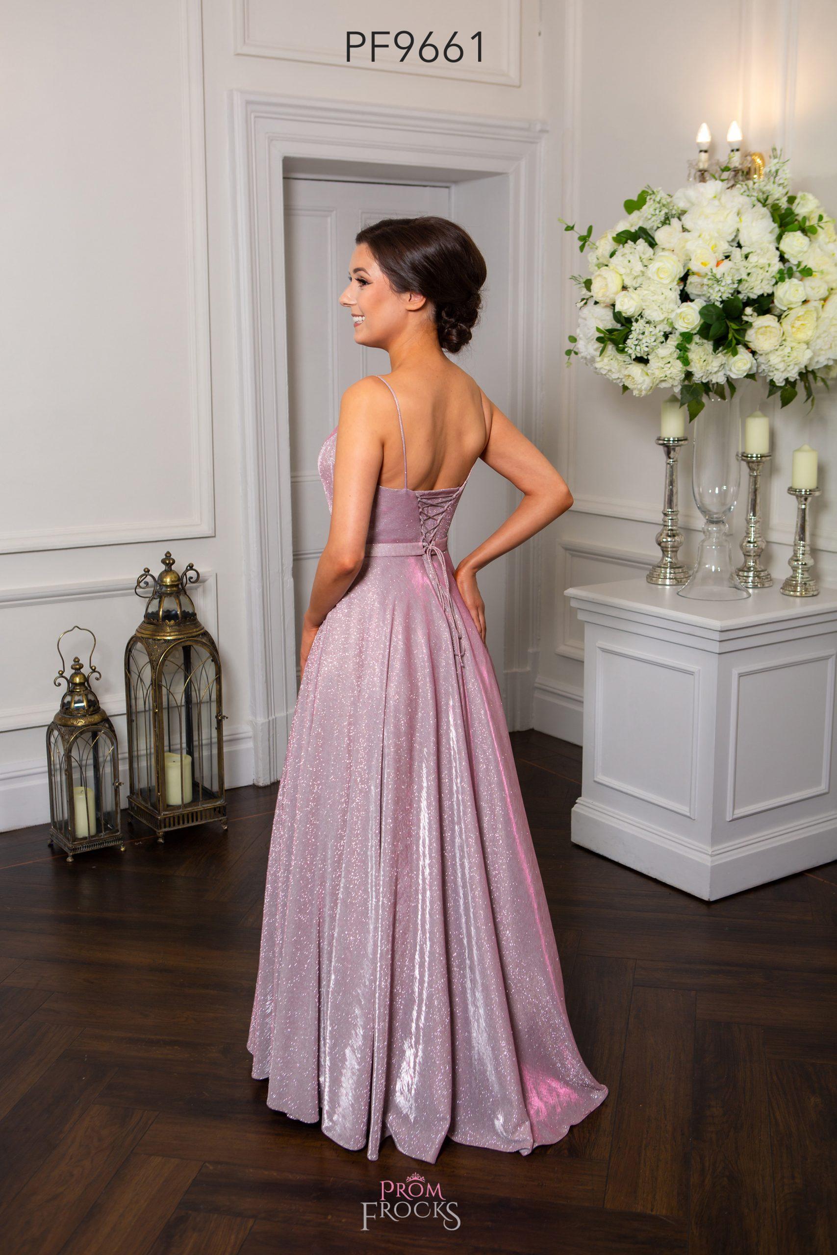 PF9661 Pink Sparkle Prom/Evening Dress - Prom Frocks UK