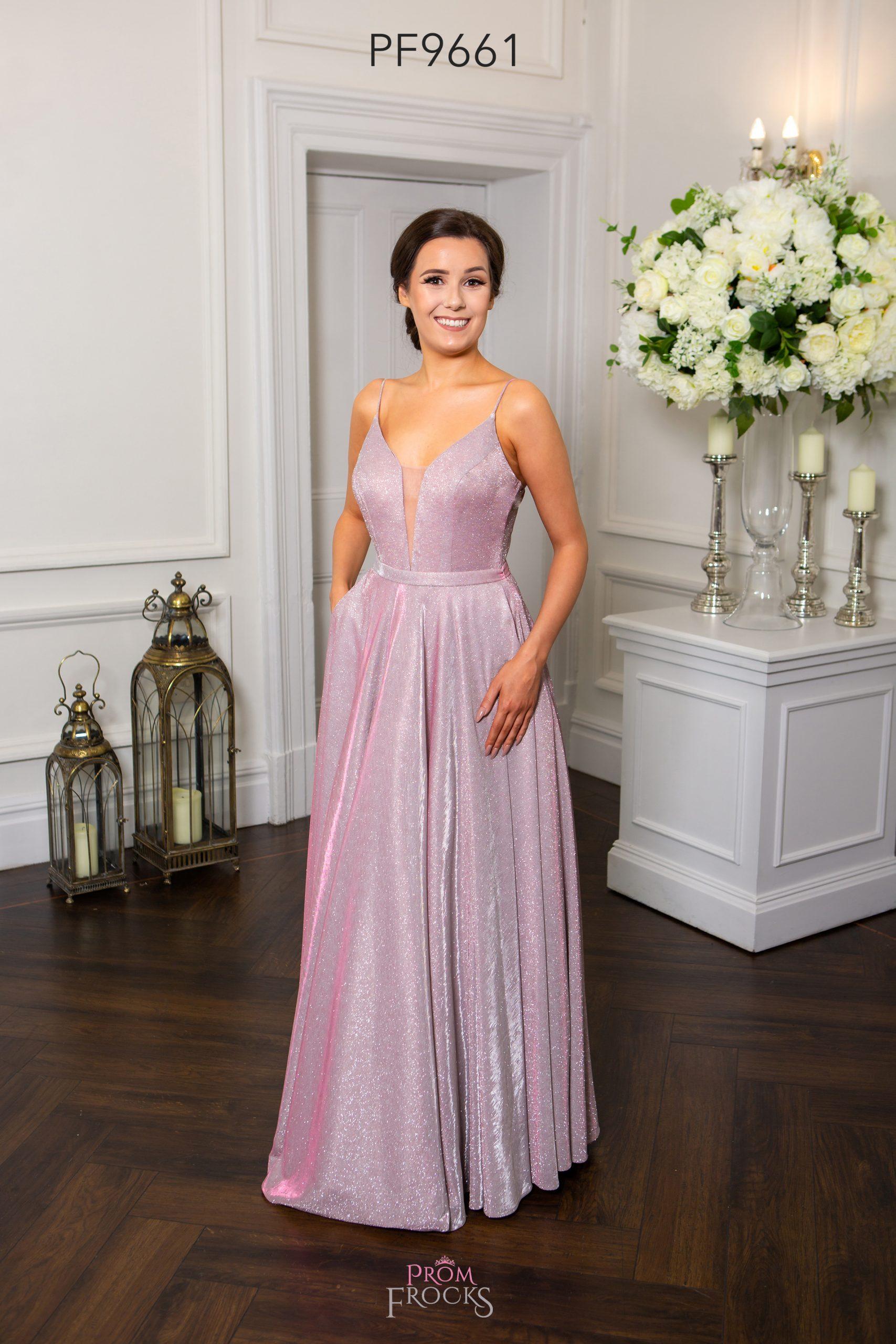 PF9709 PINK PROM/EVENING DRESS - Prom Frocks UK Prom Dresses