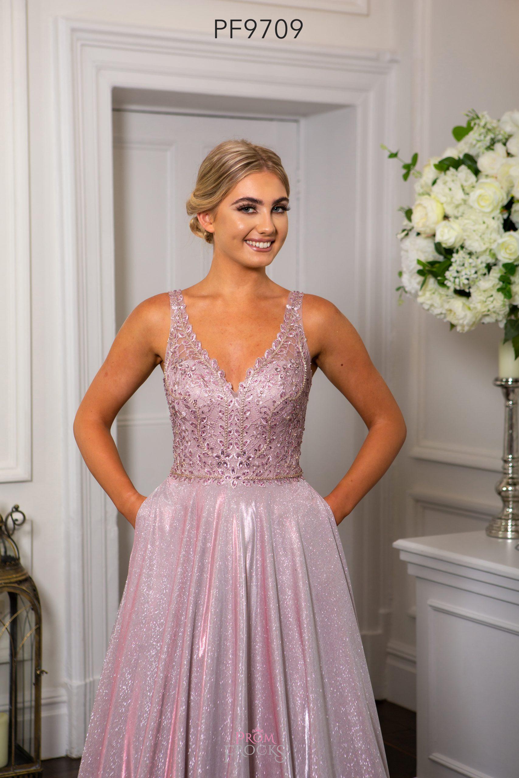 PF9752 ROSE BLACK PROM/EVENING DRESS - Prom Frocks UK Prom