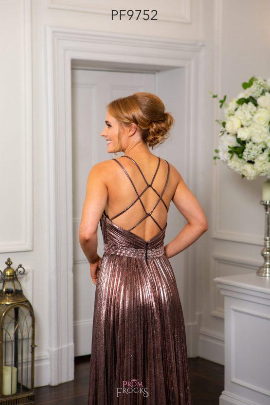 PF9740 NUDE & SILVER PROM/EVENING DRESS - Prom Frocks UK