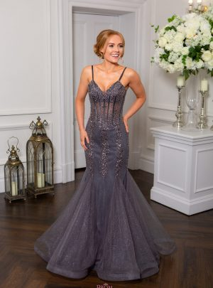 Grey, Gunmetal, Pewter and Silver Prom Dresses